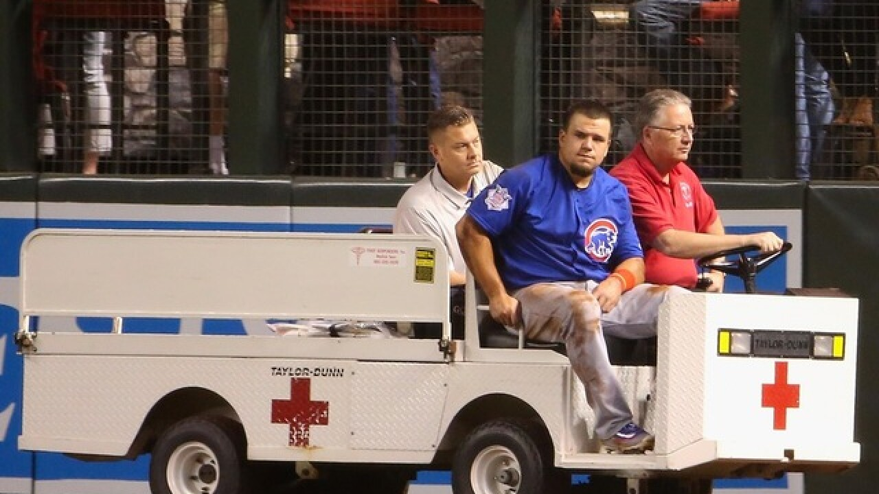 Schwarber's out, but definitely not forgotten