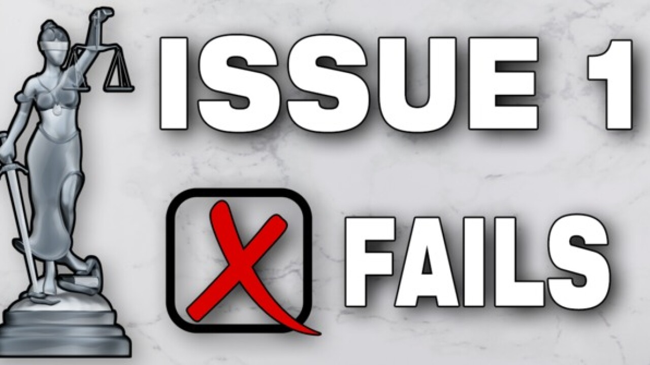 Issue 1 fails