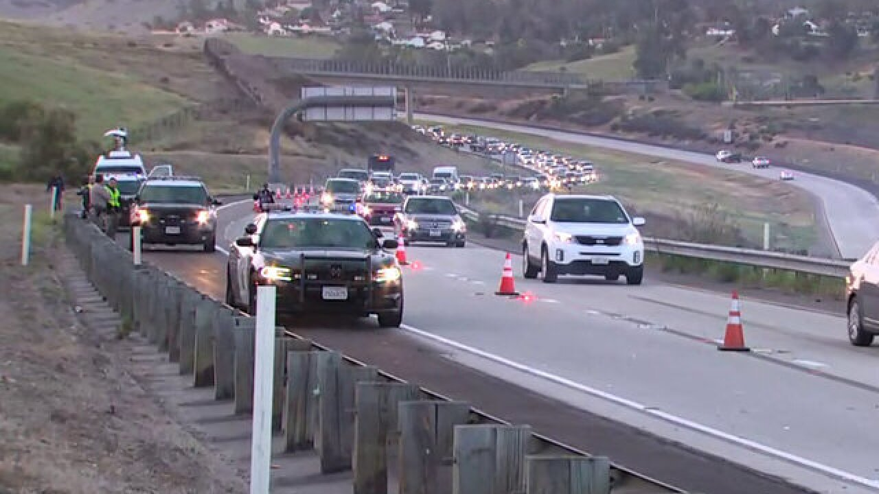 Man dies after falling over railing on SR-125