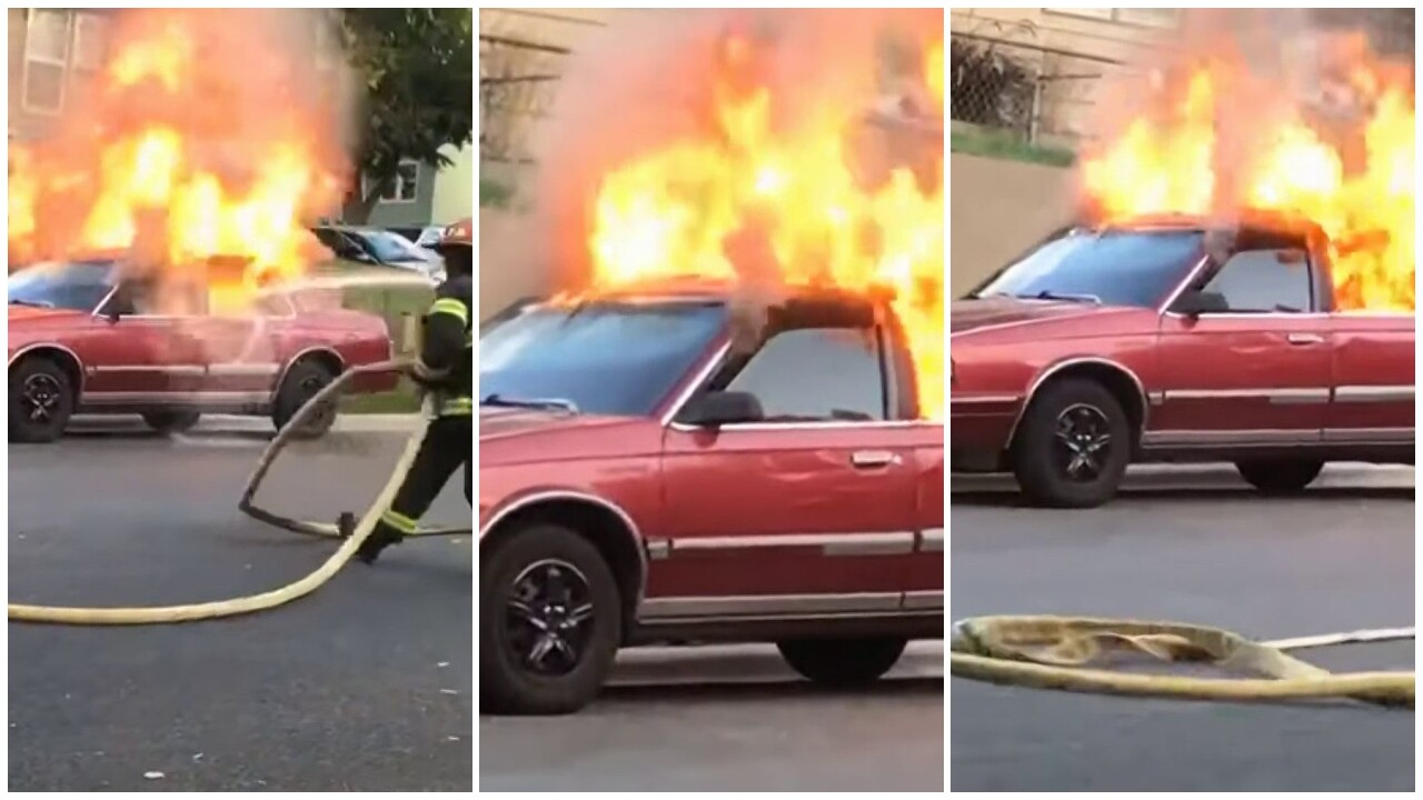 car fire  Jaxson Martin