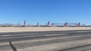 American Airline planes at Marana Regional Airport