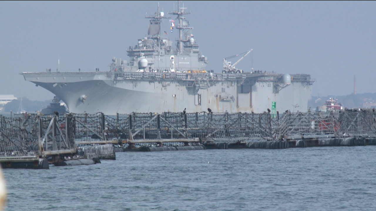 USS Kearsarge returns to Norfolk after helping with hurricanerelief