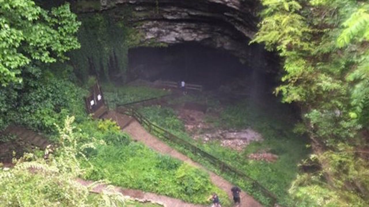 19 people escape rising waters in Kentucky cave