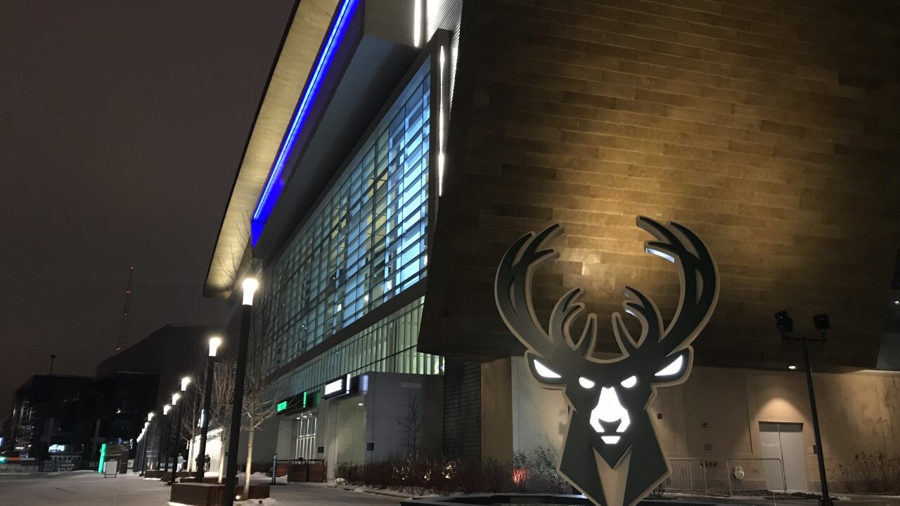 The Milwaukee Bucks honored the fallen officer Wednesday night by lighting up Fiserv Forum during their home game.