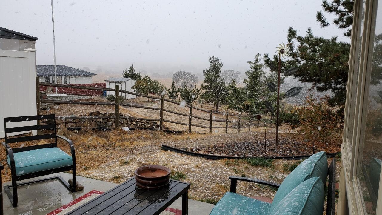 Snow in Tehachapi