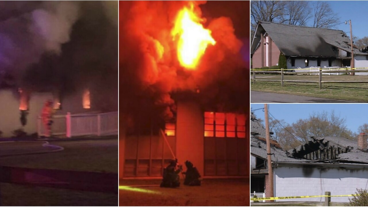 Hopewell church fire ruled arson; blaze started in sanctuary, pastor says