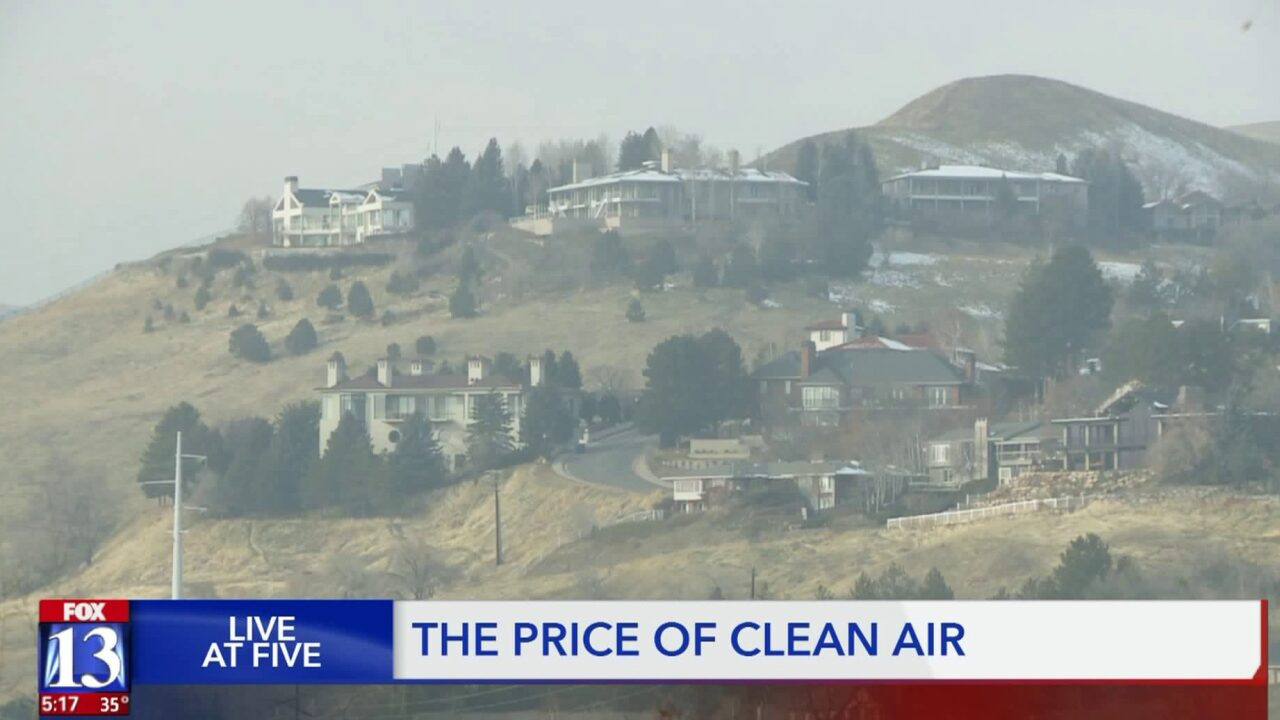 The air is cleaner for those living at higher, more expensive elevations