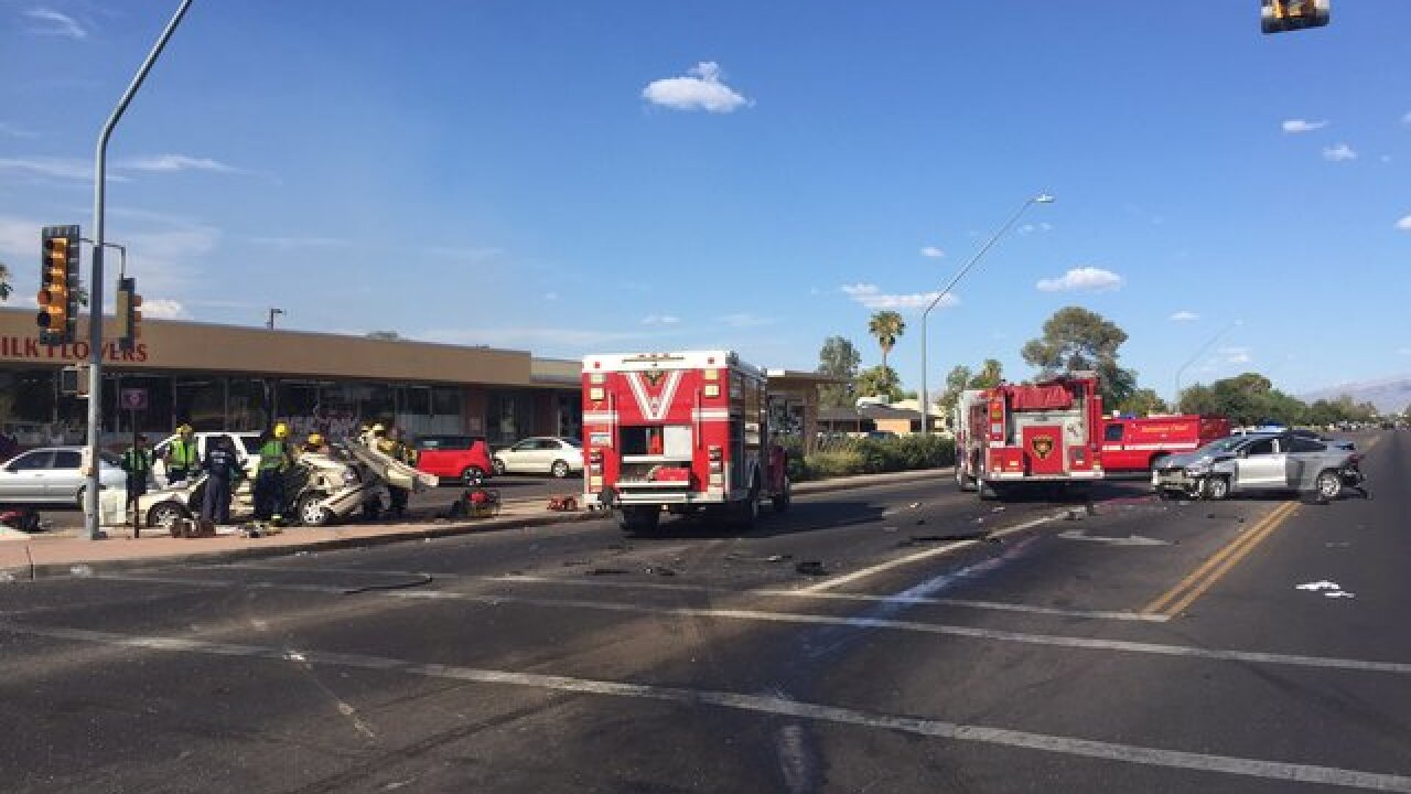 TPD responding to 4 vehicle crash with injuries
