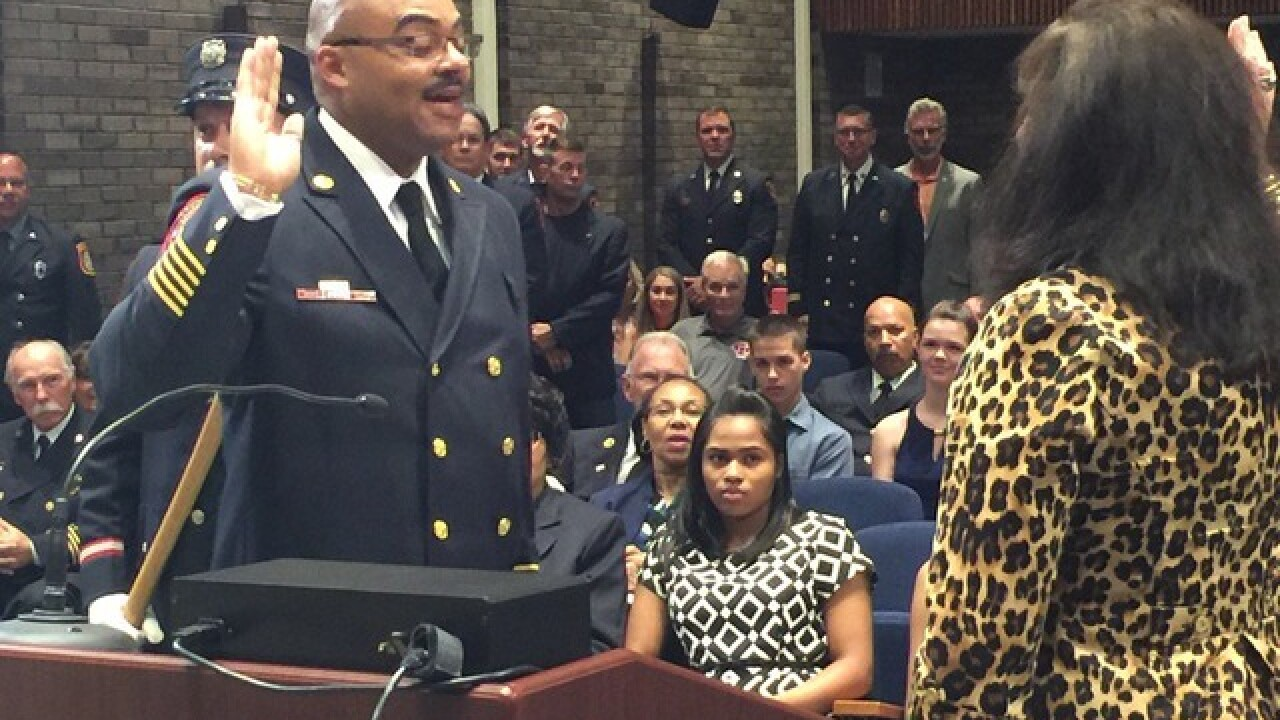 New Southfield fire chief sworn in at city council meeting