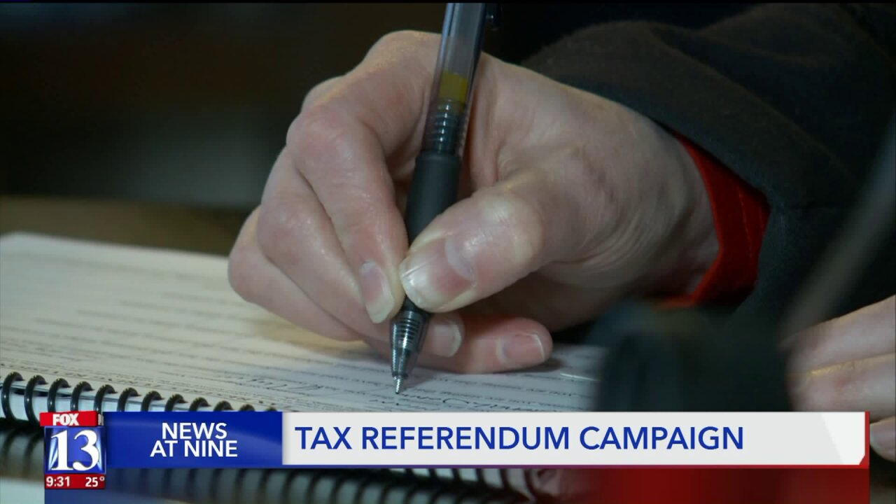 Volunteers open homes to gather tax referendumsignatures