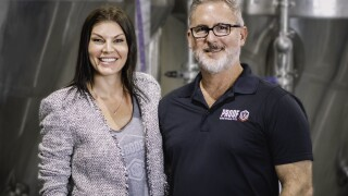 Byron and Angela, owners of Proof Brewing Company