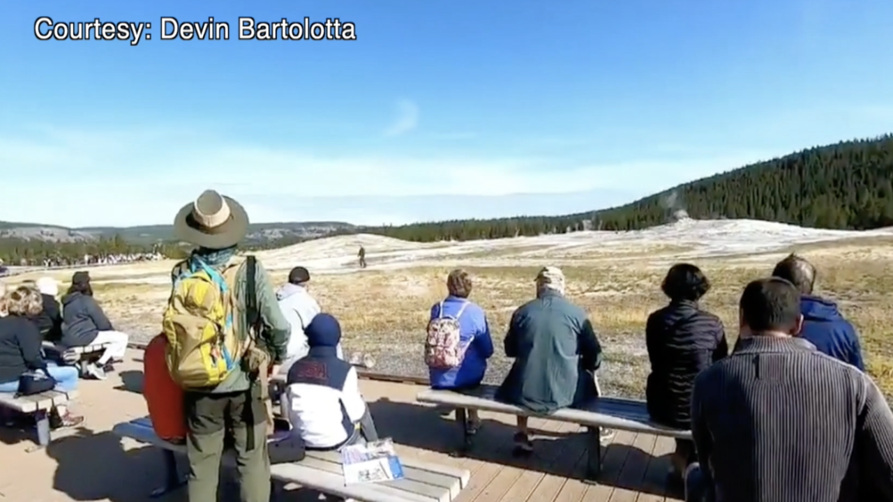 Man seen walking near Old Faithful in Yellowstone escapes charges