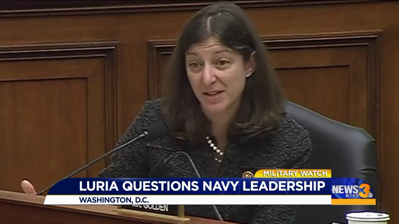 Congresswoman Luria questions Navy leaders about readiness after collisions