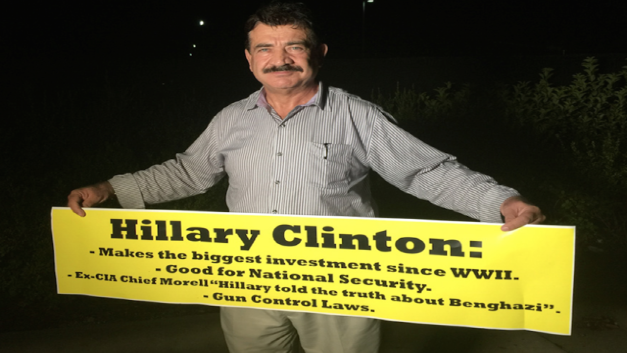 Orlando shooter's dad spotted at Clinton rally
