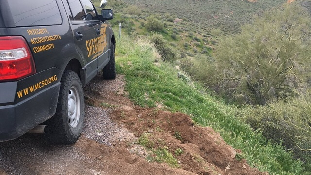Woman hurt after car goes over cliff on SR-88