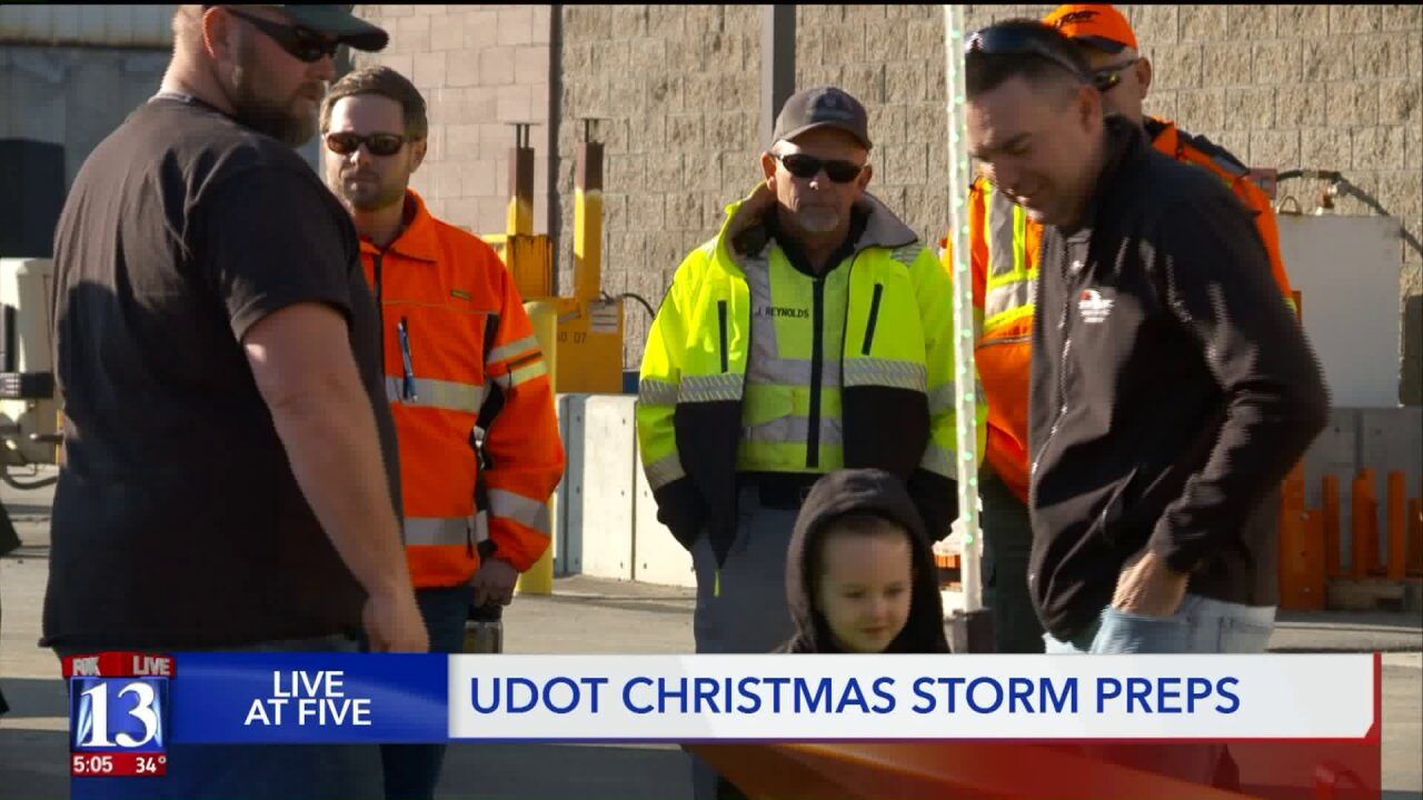 UDOT workers prepared to sacrifice holiday if winter storm hits
