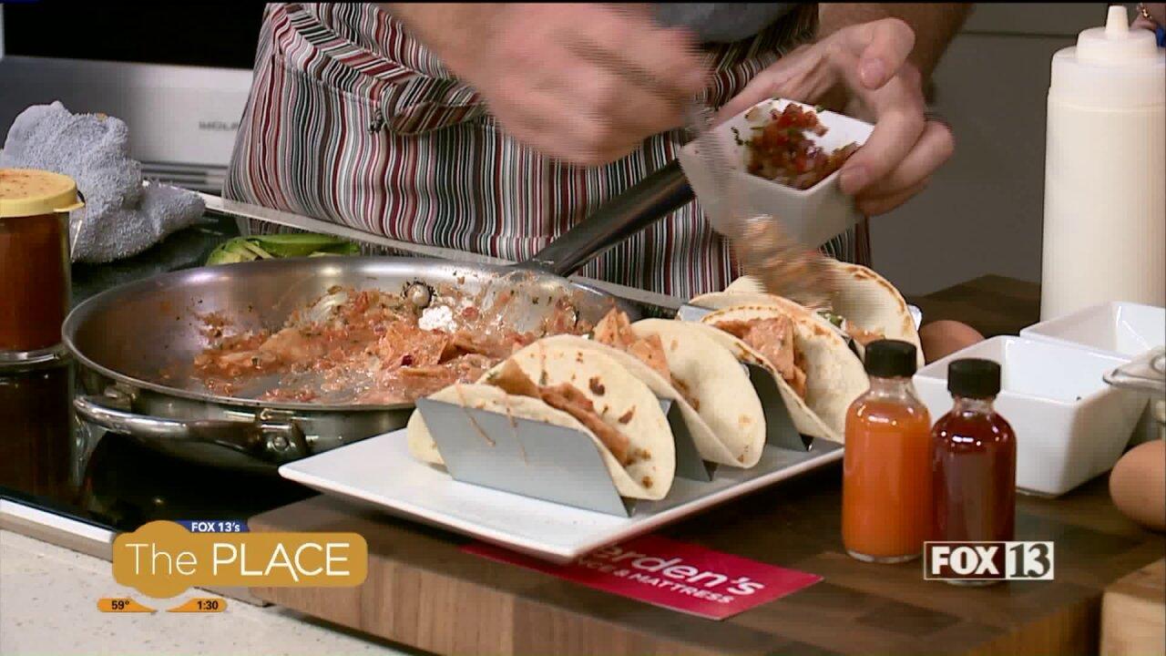 Chilaquile`s Tacos recipe from Taqueria27