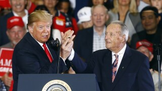 President Donald Trump and Bobby Bowden in 2018
