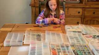 Crafted for charity: Girl sells earrings to raise money to help kids