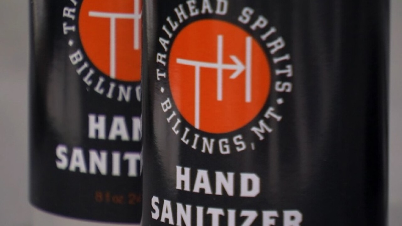 Trailhead Spirits churns out 250 bottles of hand sanitizer for Billings area healthcare workers