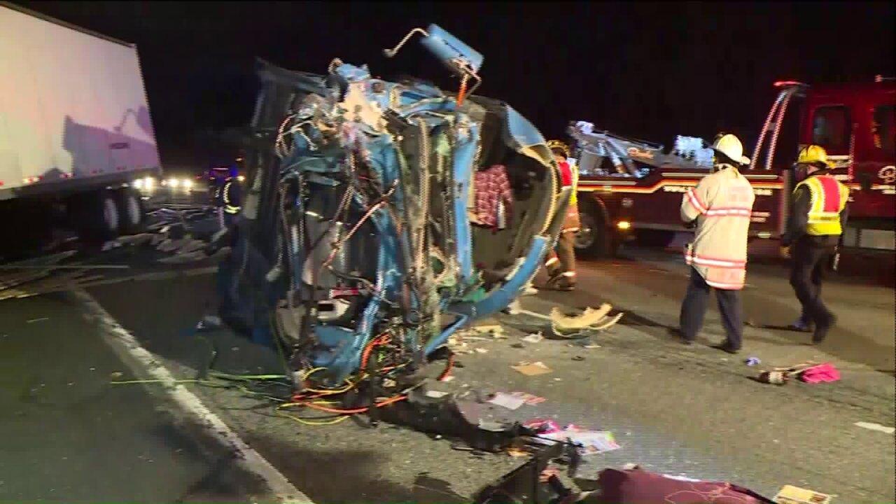 Tractor-trailer crash closed I-95 northlanes