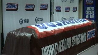 World's largest Snickers bar weighs in at over 2 tons inTexas