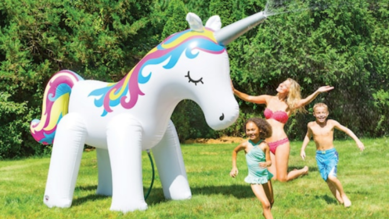 Michaels Has Huge Unicorn and Dinosaur Sprinklers on Sale for Almost Half Off