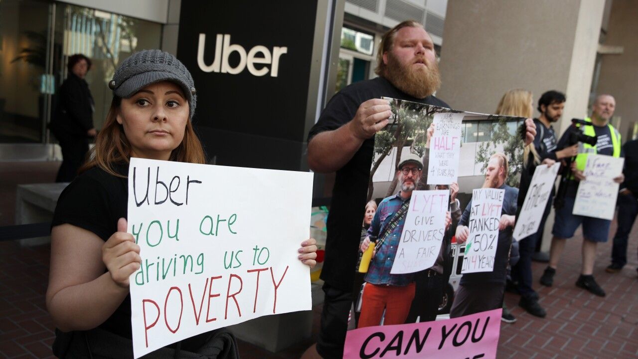 App-Based Drivers Hold Strike Across The  U.S.