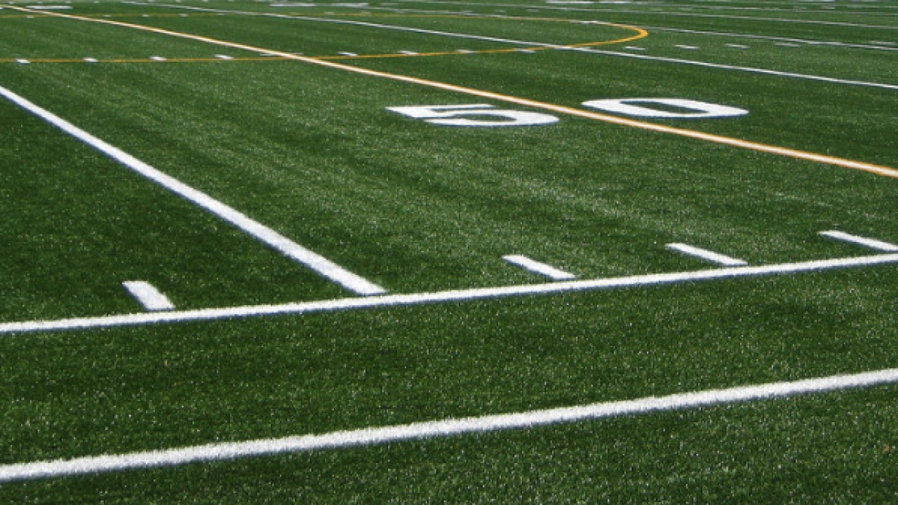 Astroturf football field