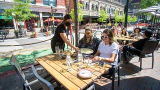 John Carlson and Kathryn Richie enjoy the patio at Matador. Soon Matador, and other restaurants and businesses, expanded their patios into 8th Street this spring. Now restaurants elsewhere in Boise can do the same thing.