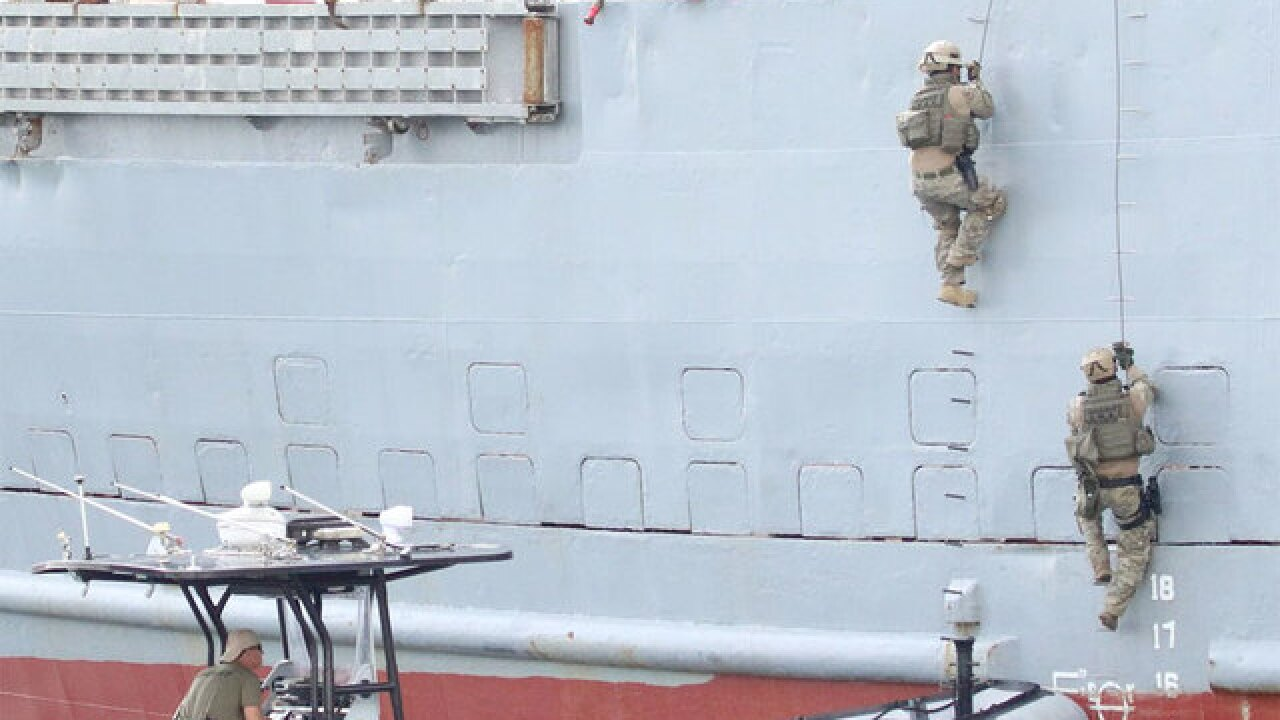 Anti-terrorism drill held at Port of Palm Beach