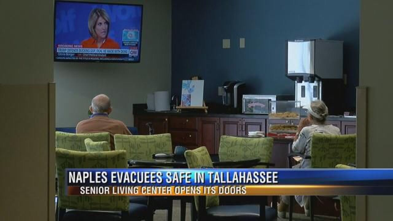 Senior evacuates from Naples arrive in Tallahassee