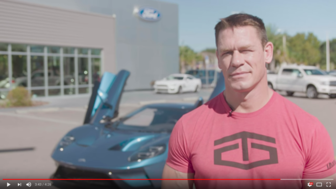 Ford sues John Cena for selling $500K custom 2017 Ford GT 'super car'