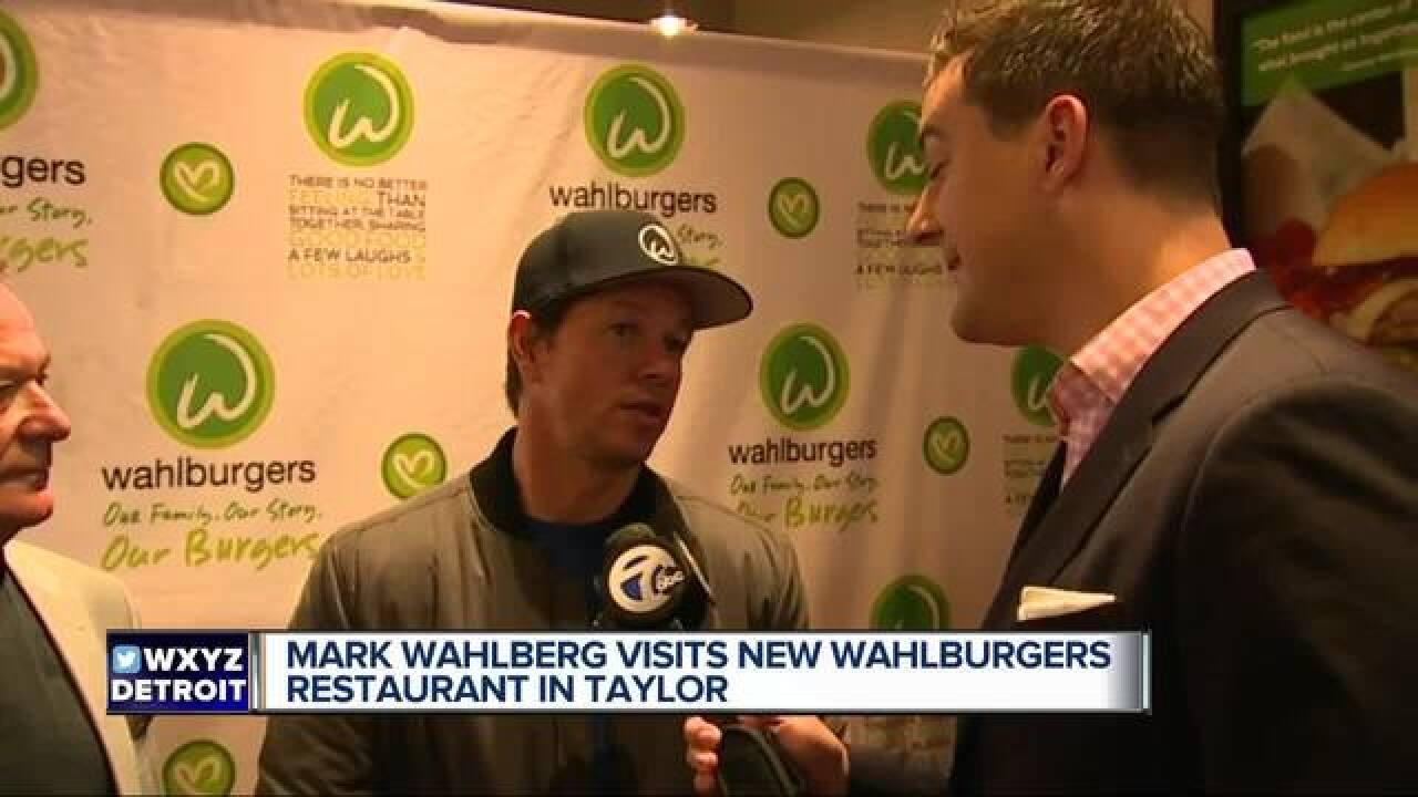 Mark Wahlberg visiting Taylor Wahlburgers Sunday