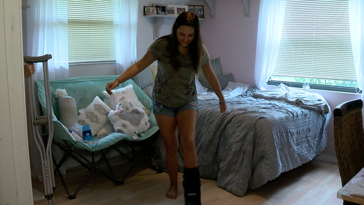 Teen shark attack survivor starting to take her first steps