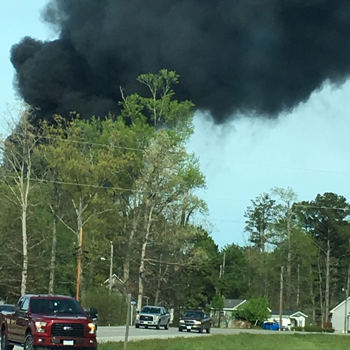 Photos: Crews respond to tire fire in Isle of Wight
