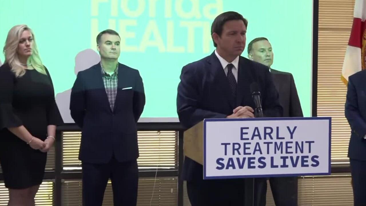 Florida Gov. Ron DeSantis speaks at a news conference in Jacksonville on Aug. 30, 2021.jpg