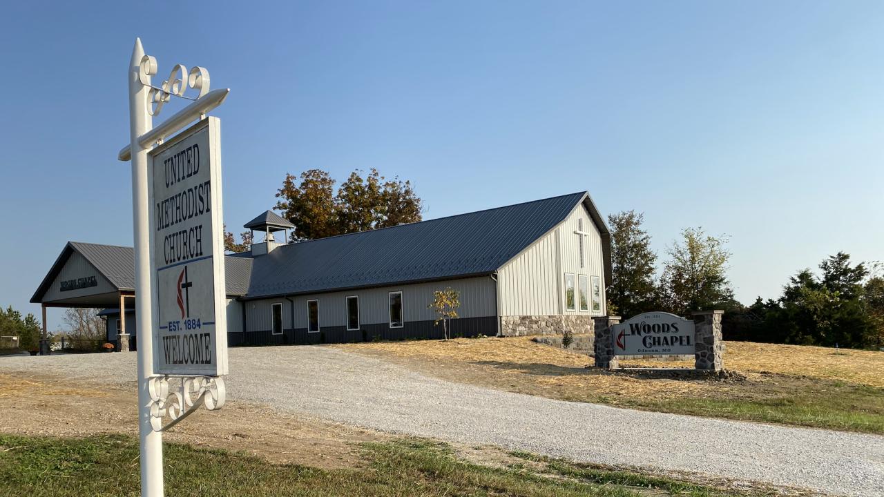 Woods Chapel United Methodist Church rebuilt
