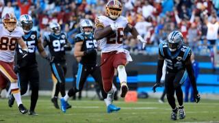 Redskins wrangle Panthers behind dominant defense, rushingattack