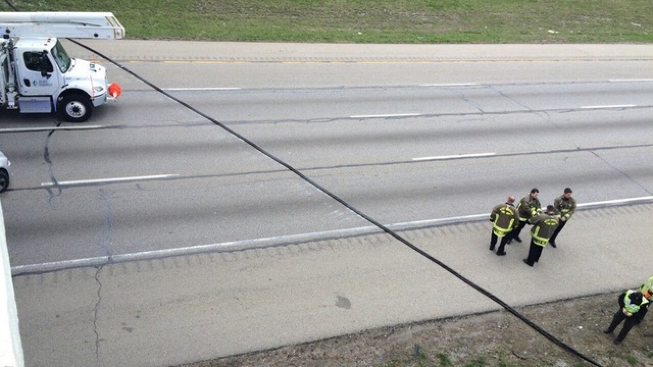 OSHP: Winds took down power lines on I-75