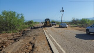Road crews clean up following heavy monsoon storms