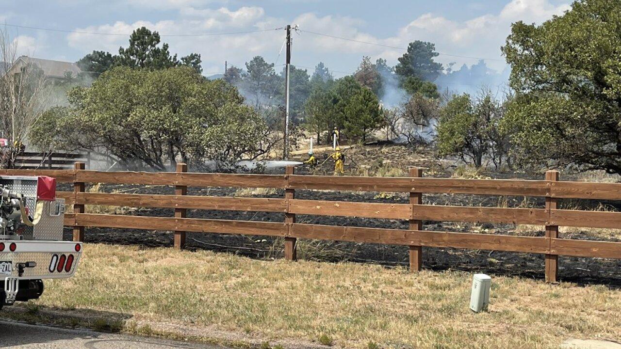 Woodmen Grass Fire