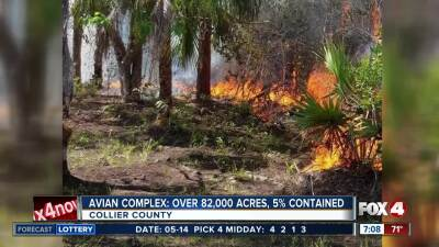 Collier County Wildfire Map.Southwest Florida Fire Naples Fires Collier County Fires Fox 4