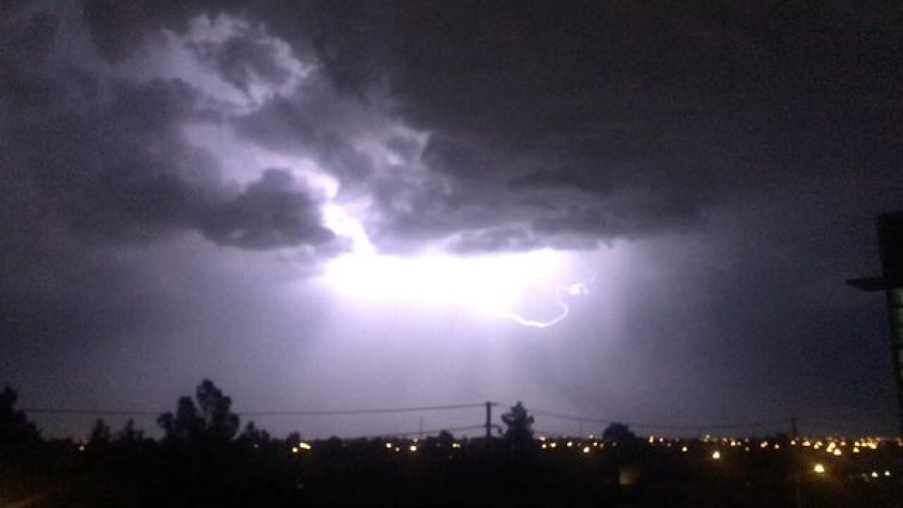 Storms moving through the Las Vegas valley