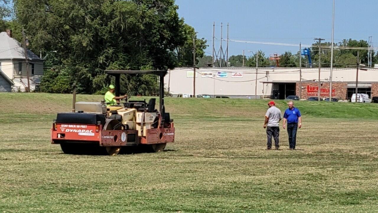 Kansas City Parks and Recreation restoring Missouri Wolverines field at Heim's Electric Park