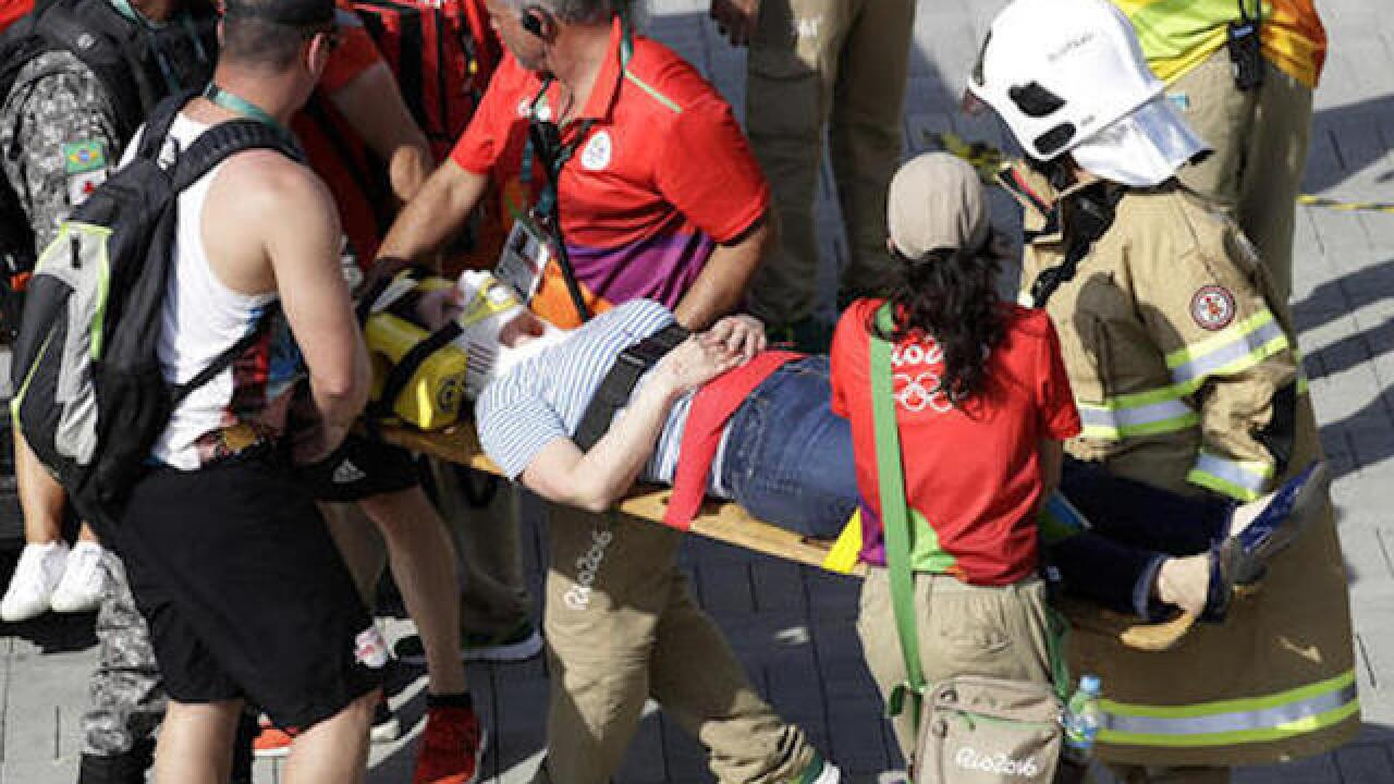Olympic fans injured by falling TV camera in Rio