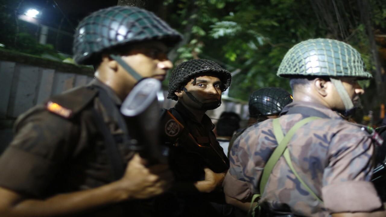 People trapped in armed attack in Bangladesh