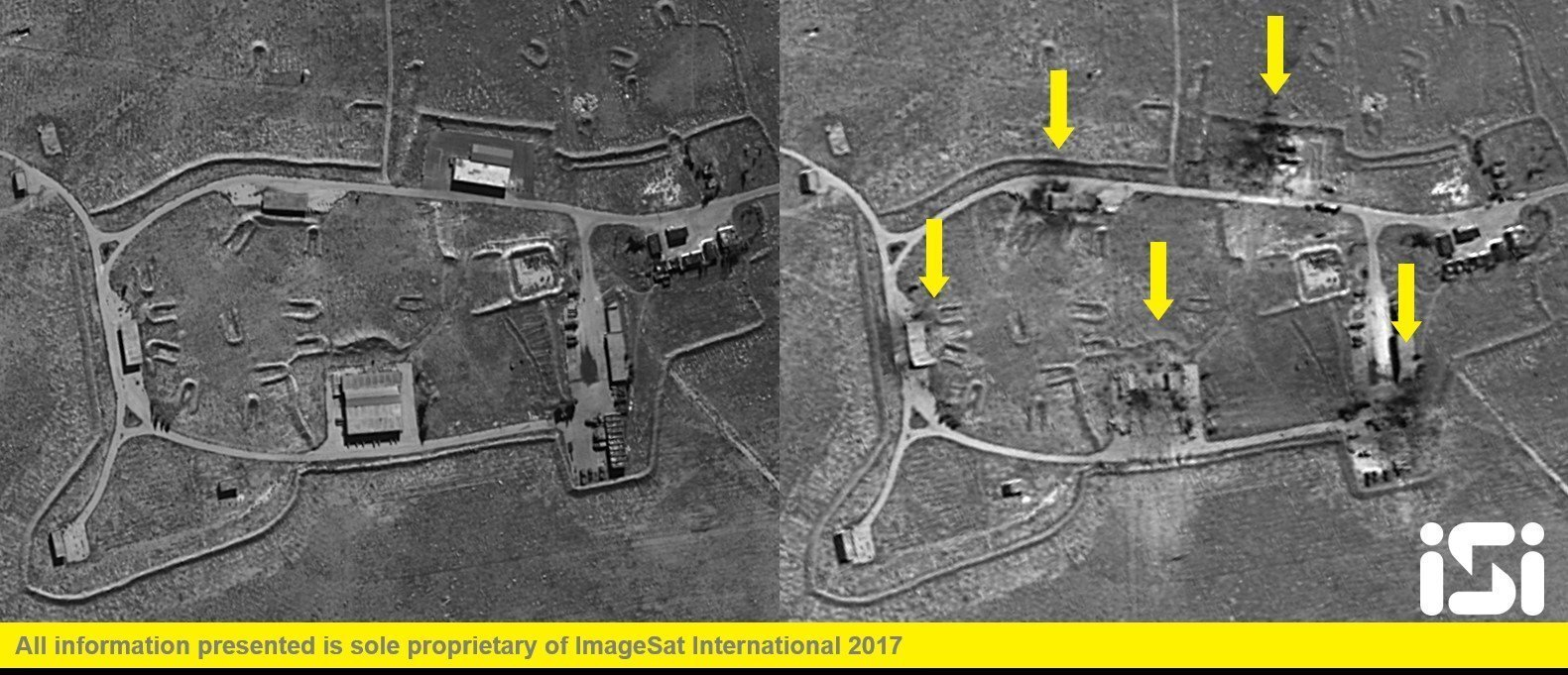 Photos: Satellite images show before, after US strikes on Syrianbase