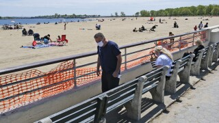 Virus Outbreak New York Beaches