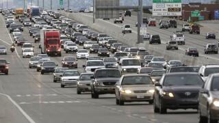 Traffic on I-15 in Salt Lake City